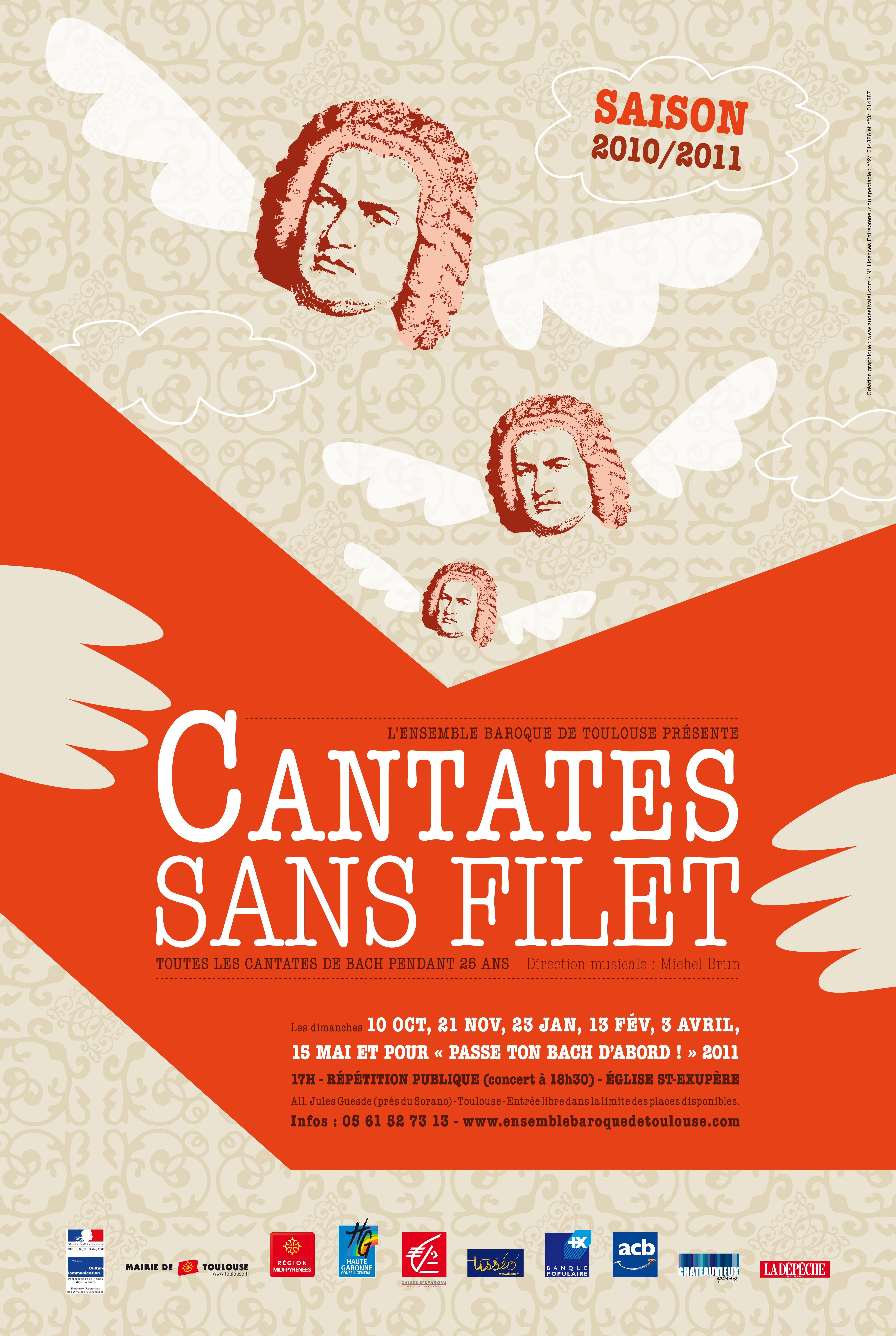 Affiche Cantates sans filet